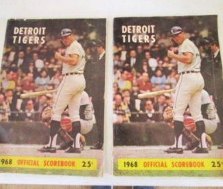 Detroit Tigers 1968 Scorebook